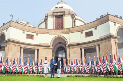 Donald trump India Visit: Key Agreements With Trump at Hyderabad House - Sakshi