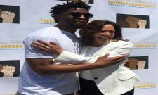 Kamala Harris mourns on Bison Chadwick Boseman sudden demise - Sakshi
