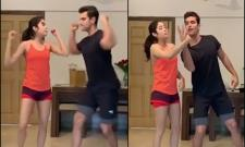 Janhvi Kapoor And Angad Bedi Danced To Anil Kapoor Song - Sakshi