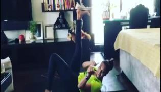 Bipasha Basu Nailed  Shoe Challenge In New Fitness Video