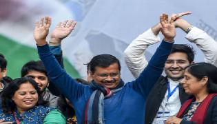 AAP Workers Celebrate Partys Victory in Delhi Assembly Elections 2020 Photo Gallery - Sakshi