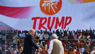 Donald Trump In India Visit - Sakshi