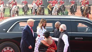 Donald Trump Visits at Rashtrapati Bhavan Photo Gallery - Sakshi
