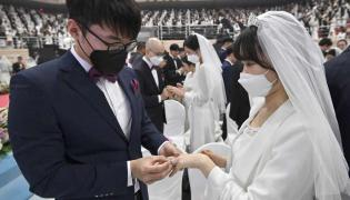 Thousands Marry Wearing Face Masks in South Korea Photo Gallery - Sakshi