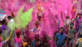 holi celebration 2020 Photo Gallery - Sakshi