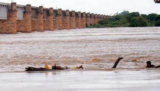 Godavari River Water Level Heavy Rains In Rajahmundry  - Sakshi
