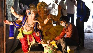 Corona Effect In Ganesh Chaturthi Festival 2020 Photo Gallery - Sakshi