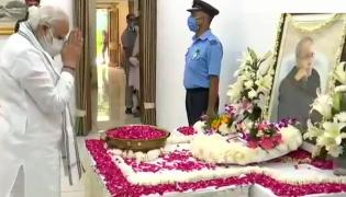 Political leaders pay their last respect to former President Pranab Mukherjee Photo Gallery - Sakshi