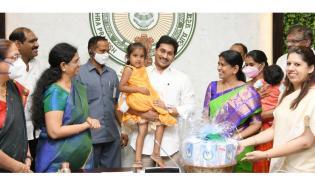 CM YS Jagan Launched YSR Sampurna Poshana Schemes Photo Gallery - Sakshi