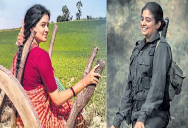 Priyamani looks from Viraata Parvam And Narappa - Sakshi
