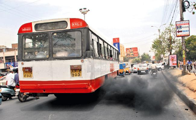 Hyderabad Pollute With RTC Buses And Vehicles - Sakshi