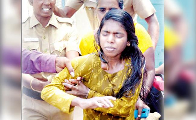 Young Woman Commits Suicide Attempt in front of Collector House - Sakshi