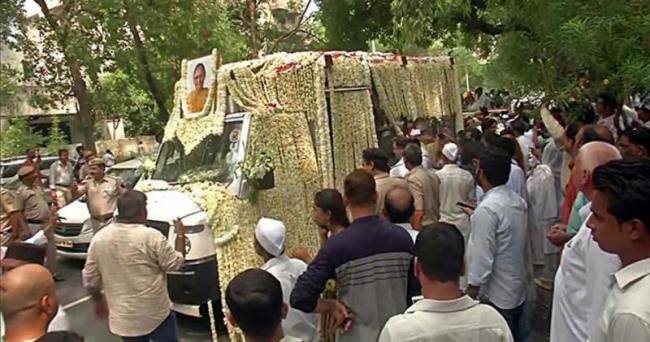 Sheila Dikshit Cremated With State Honours - Sakshi