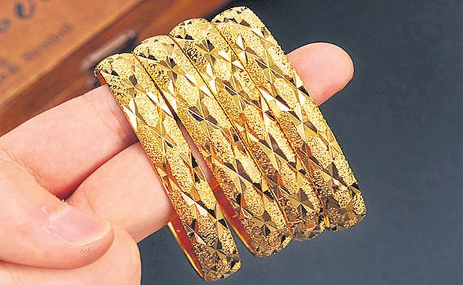 Gold Price Hikes in Hyderabad - Sakshi
