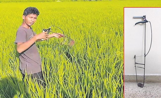 inventing a portable hand-weeder for paddy farmers - Sakshi