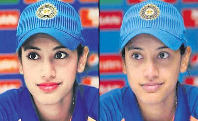 Photoshopped Image Of Smriti Mandhana Goes Viral - Sakshi