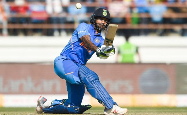 Dhawan Falls For 96 After Century Stand - Sakshi