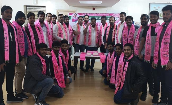 TRS NRI Wing Celebrates KCR Birthday In London - Sakshi
