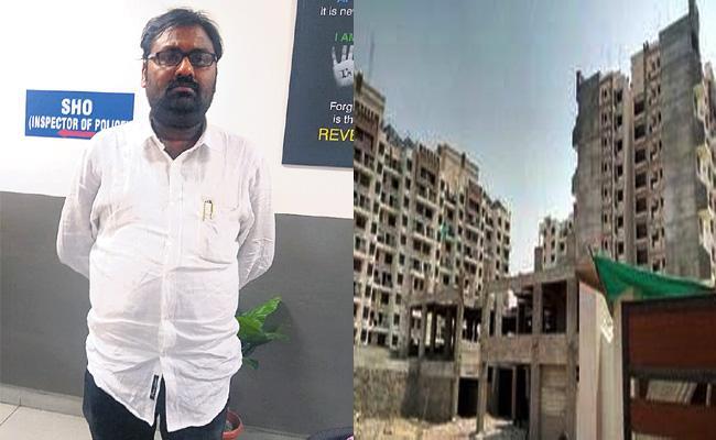 Dhamari Estates Owner Cheruvupalli Suman Babu Arrest Hyderabad - Sakshi