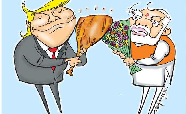 America President Donald Trump Visits India - Sakshi