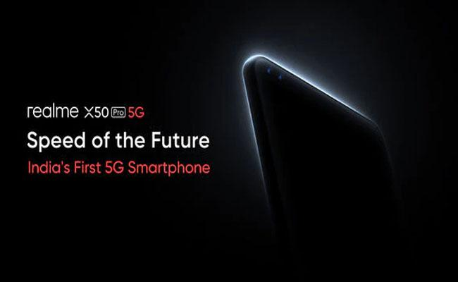 Realme X50 Pro, India's first 5G phone, to launch today - Sakshi