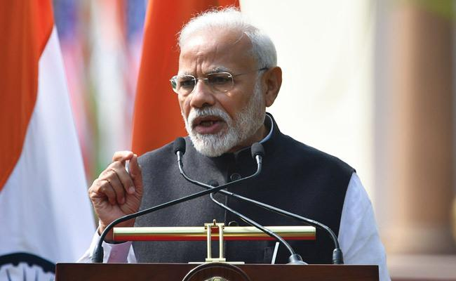 PM Modi Statement After Bilingual Discussion With President Trump - Sakshi