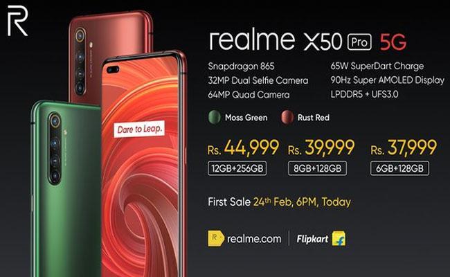 Realme X50 Pro 5G with Dual Selfie Cameras - Sakshi