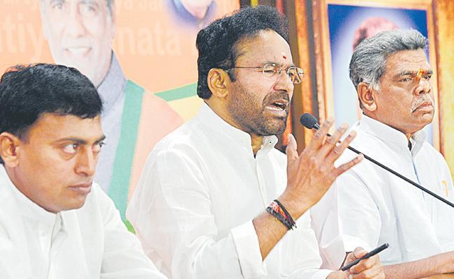 Kishan Reddy Speaks To Media Over CAA - Sakshi