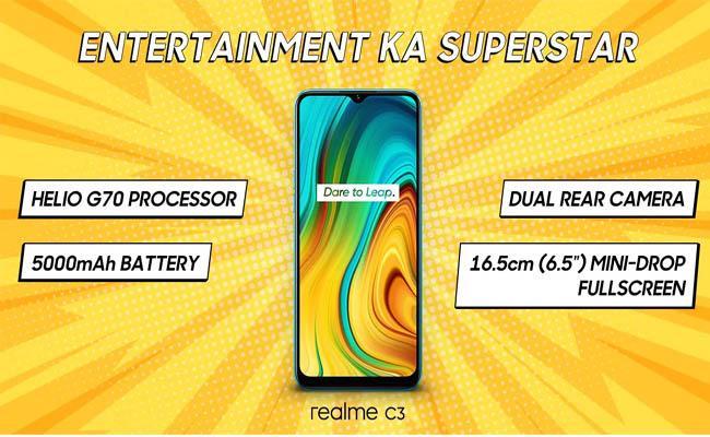 Realme C3 launched - Sakshi
