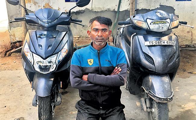 Man Held in Bike Stolen Case Hyderabad - Sakshi