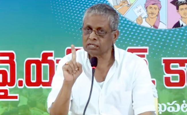 YSRCP Leader Dhadi Veerabhadra Rao Slams EC At Vizag - Sakshi