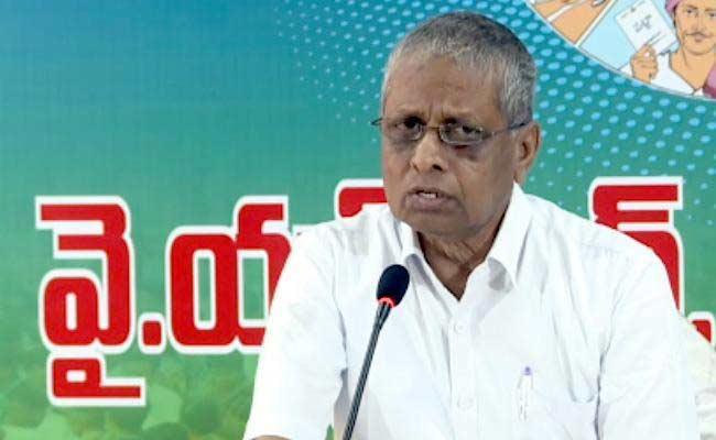 Dadi Veerabhadra Rao Slams On Chandrababu Over Local Body Election Postpone - Sakshi