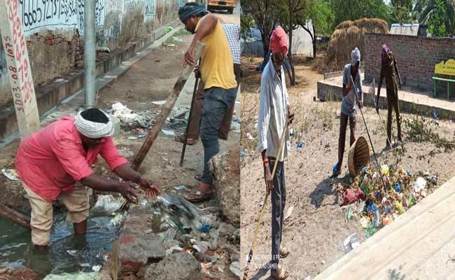 Sanitation Workers Facing Problems Over Coronavirus Effect - Sakshi