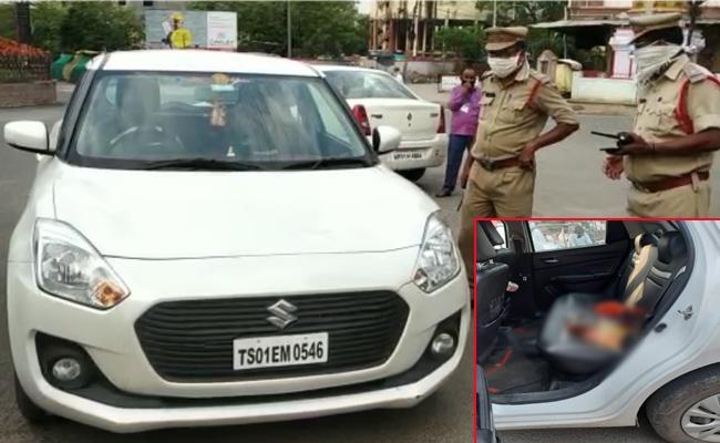 Adilabad Collector Devasena Caught Illegal Liquor In Car During Lockdown - Sakshi