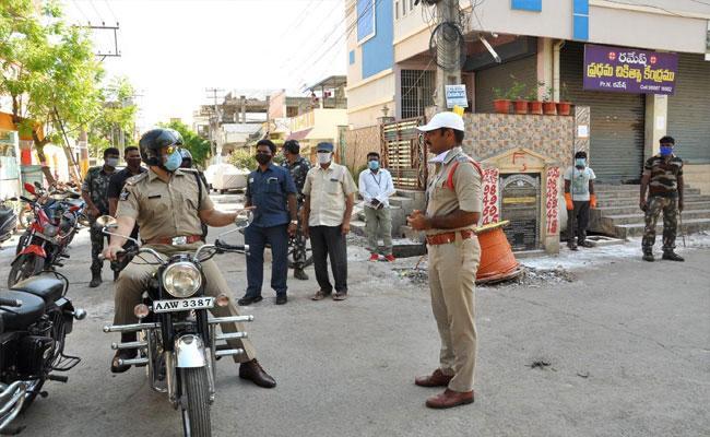Strengthening Police Mechanisms In Corona Virus Affected Areas - Sakshi