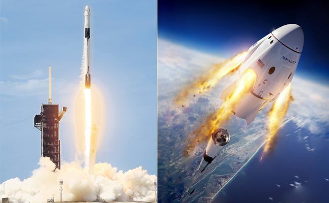 SpaceX Dragon crew capsule docks at International Space Station - Sakshi