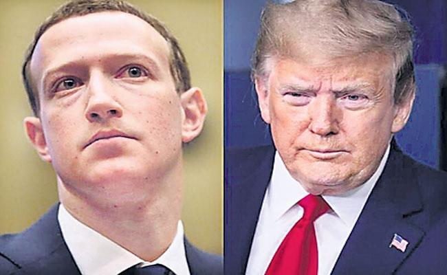 Mark Zuckerberg Supports Donald Trump Over George Floyd Issue - Sakshi