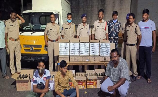 TDP Ex MLA Son Held in Alcohol Smuggling Case Anantapur - Sakshi