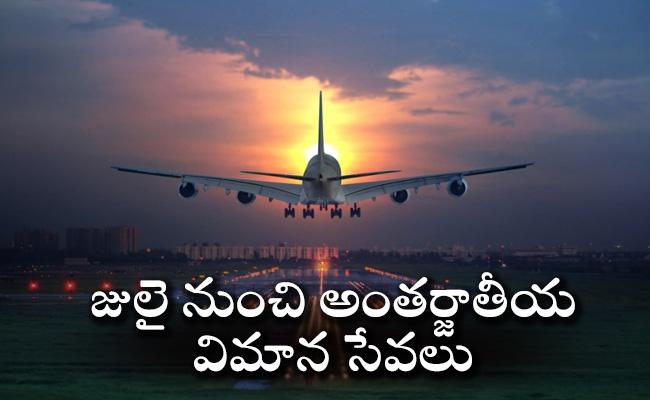Aviation Ministry Sources Says International Flight Operations May Resume In July   - Sakshi