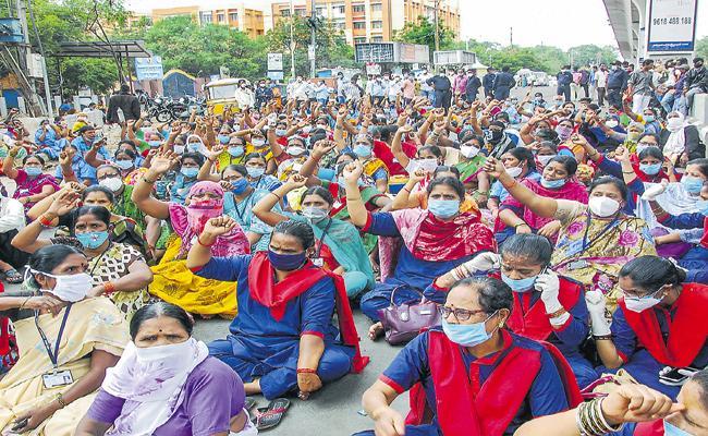 Indefinite strike in Gandhi from 15th July - Sakshi