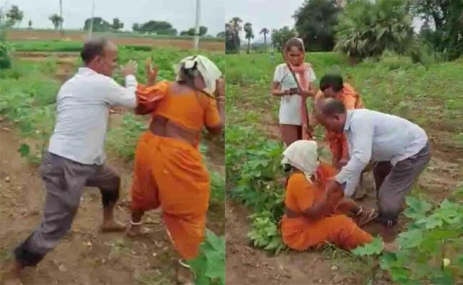 Government Teacher Beats His Mother In Warangal District - Sakshi