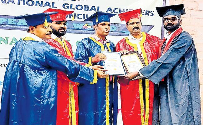 Shekar Get Doctorate For Bahujan Bhim Soldier in Sangareddy - Sakshi