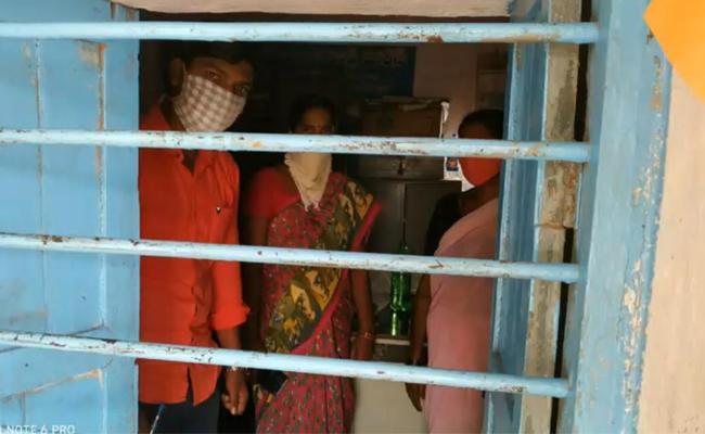 Rukmapur Village Sarpanch Locked by Her Husband - Sakshi