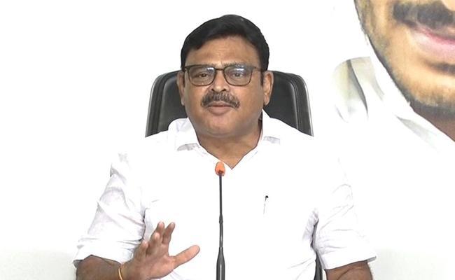 Ambati Rambabu Slams On Chandrababu Naidu In Tadepalli - Sakshi