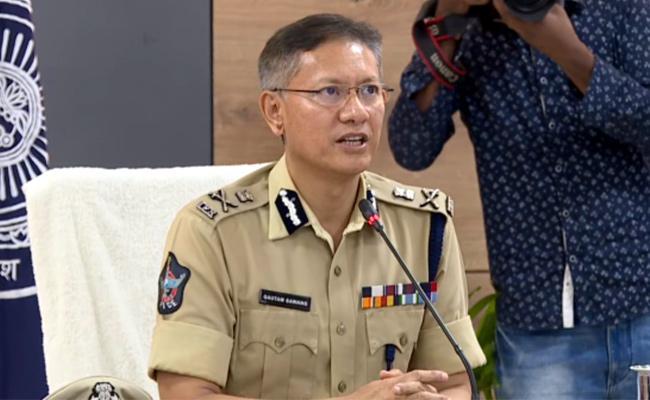 AP DGP Gautam Sawang Video Conference With Police Superiors - Sakshi