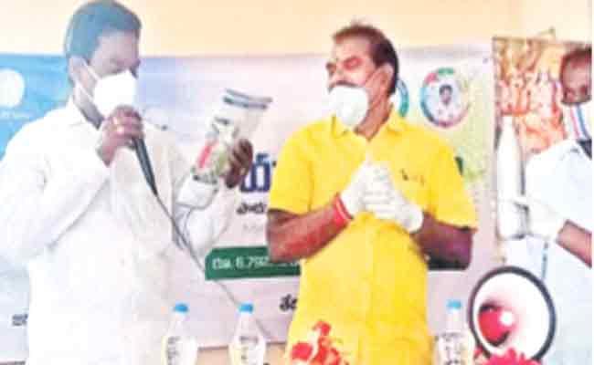 Ananda Prakash Gives A Strong Counter To MLA Nimmala Ramanaidu - Sakshi