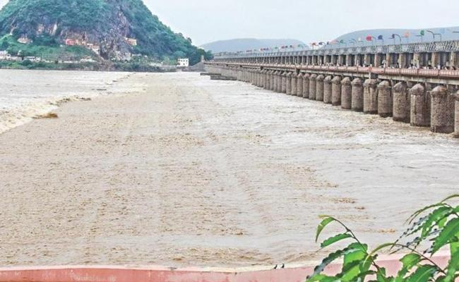 Green Signal To Two Barrages On Krishna River - Sakshi