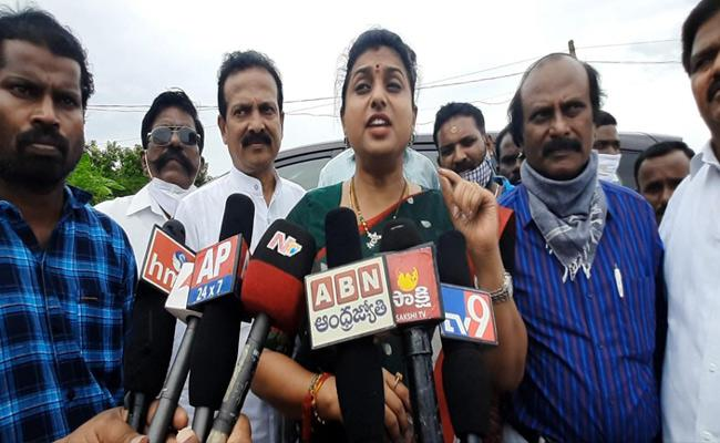 RK Roja Slams Chandrababu Naidu Over Amaravati Land Scam - Sakshi