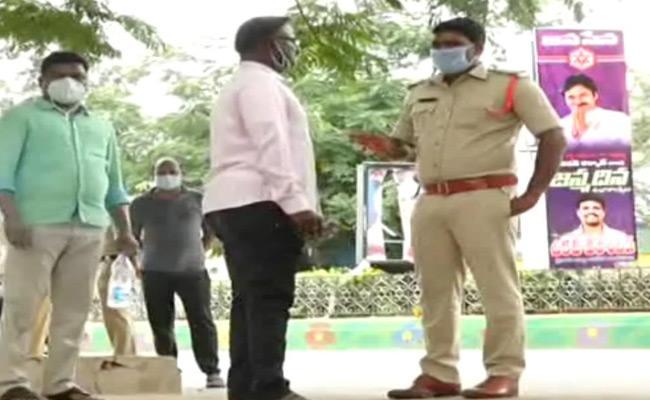 Head Constable Fires On Superintendent Of Police In Prakasam - Sakshi