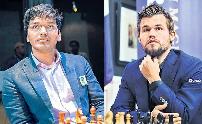 Pentala Harikrishna Won Against Magnus Carlsen In Saint Louis Rapid - Sakshi